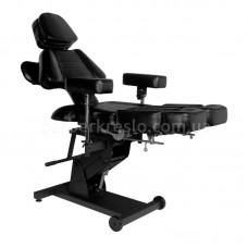 Професиональное кресло для татуировок  с электроприводом PRO INK 606 черное