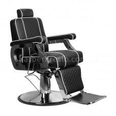 Барберское кресло PAULO черное